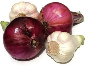 Fresh Onion and Garlic Causes Body Odor