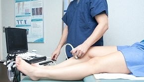Patient Having Varicose Veins Ultrasound